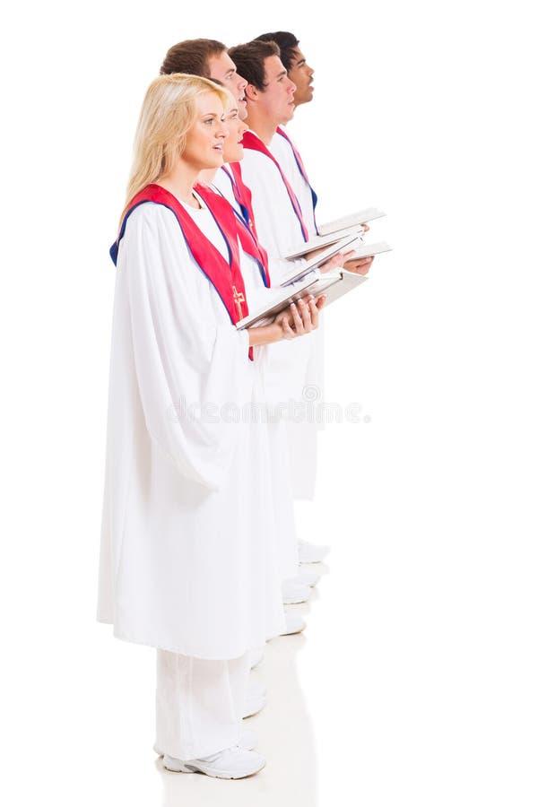 Cantores do coro da igreja imagens de stock