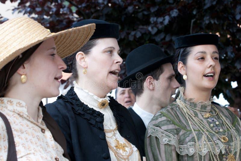 Cantores portugueses do folclore foto de stock
