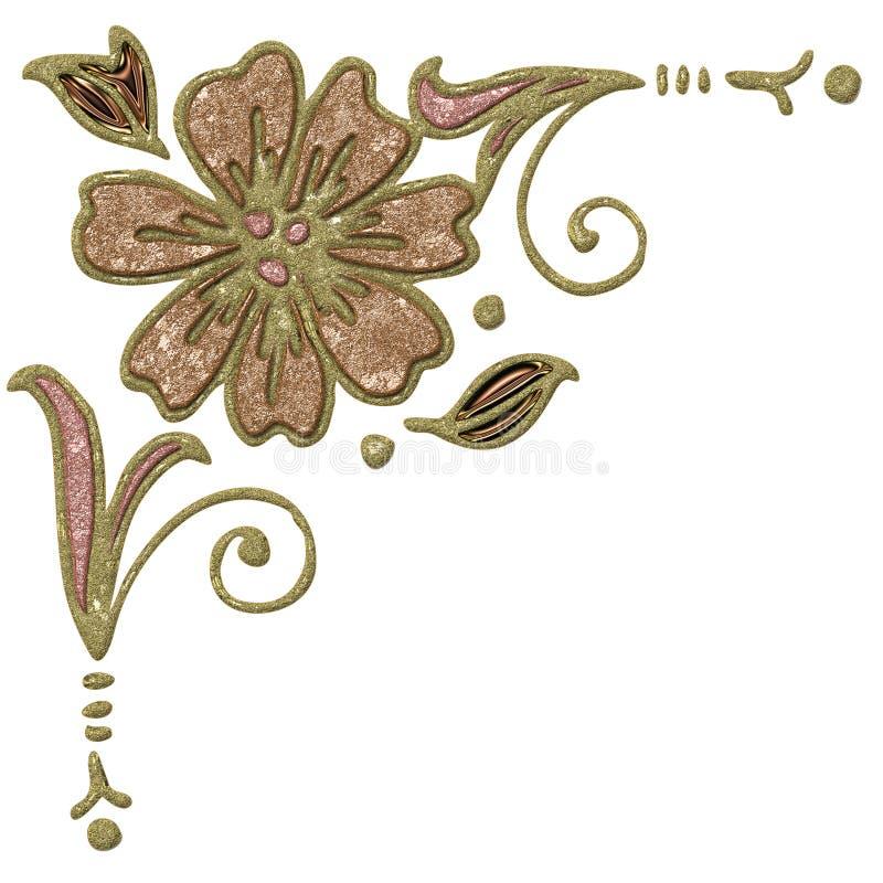 Cantos abstratos - flor ilustração royalty free