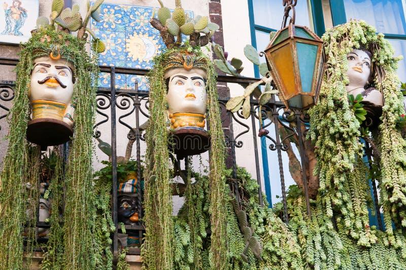 Cantos de Taormina imagens de stock royalty free