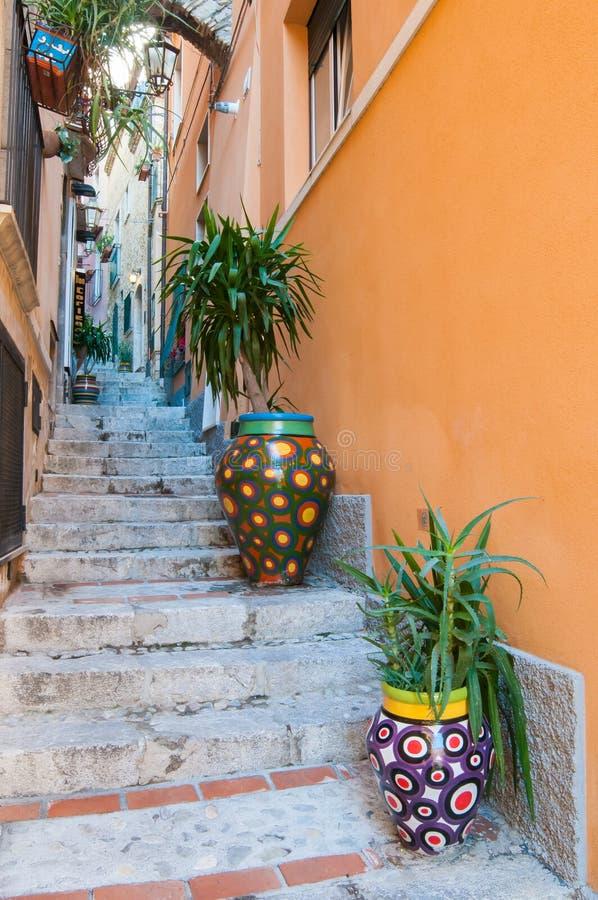 Cantos de Taormina foto de stock royalty free