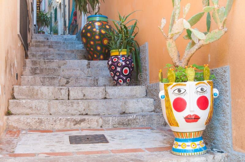 Cantos de Taormina fotos de stock