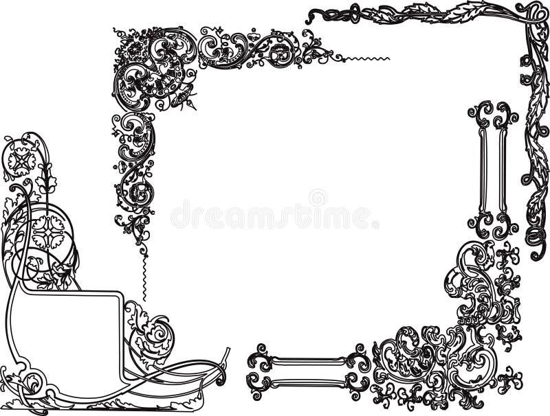 Cantos do desdobramento ilustração royalty free
