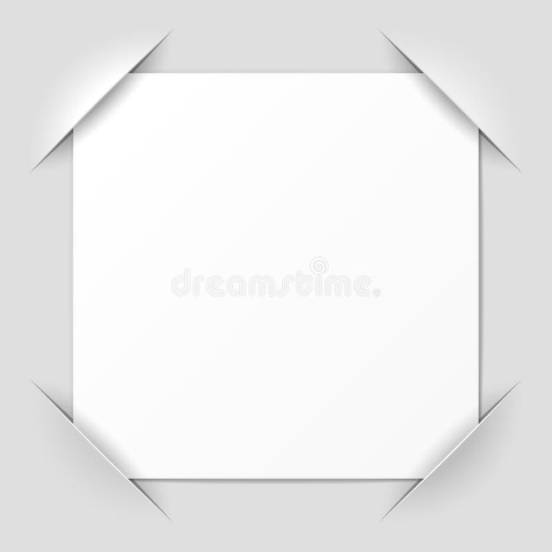 Cantos do frame da foto ilustração do vetor