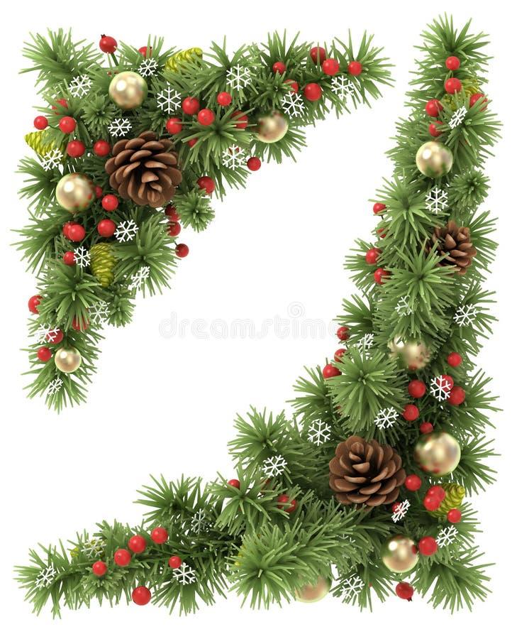 Cantos do Natal ajustados ilustração royalty free