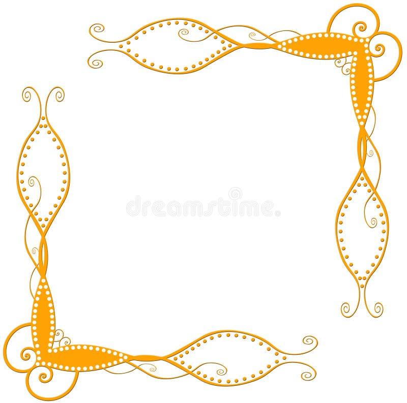 Cantos Espirais Alaranjados Imagem de Stock Royalty Free