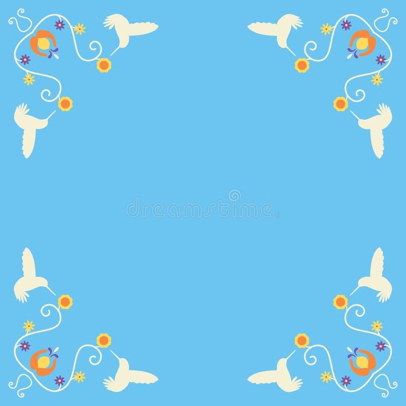 Cantos retros do colibri fotografia de stock royalty free