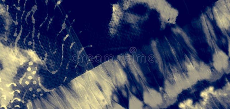 Canva sale artistique blanc Peinture d'éclaboussure d'encre tie photo libre de droits
