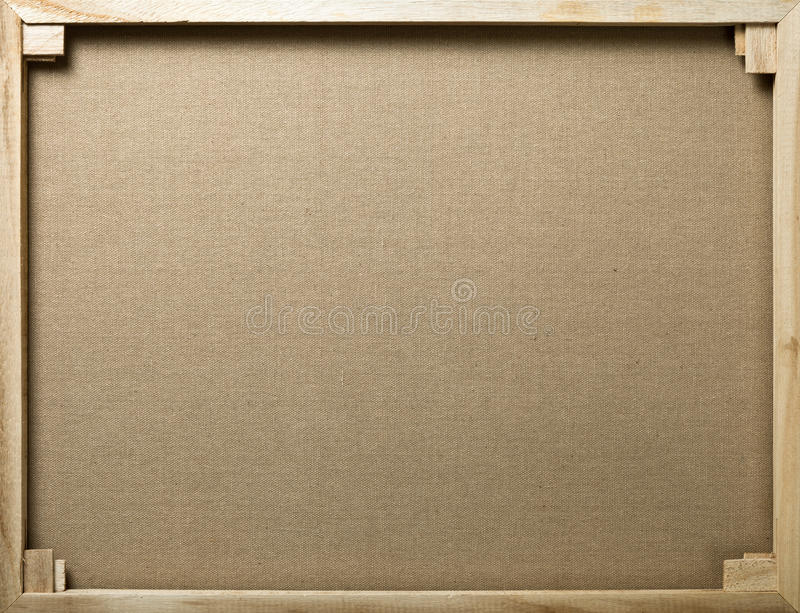Canvas Background. Wooden stretcher with cotton canvas for background stock image