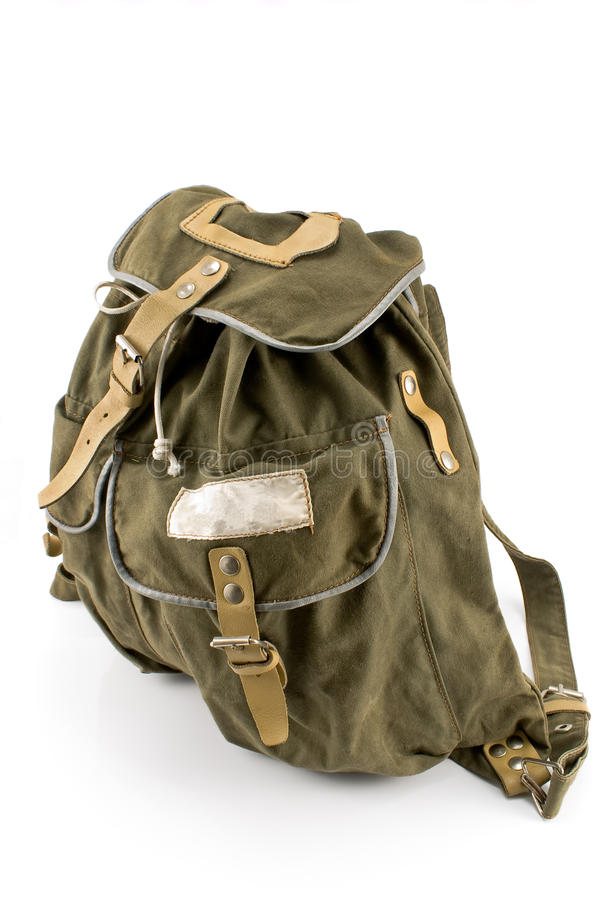 Download Canvas backpack stock image. Image of single, buckle - 23469639