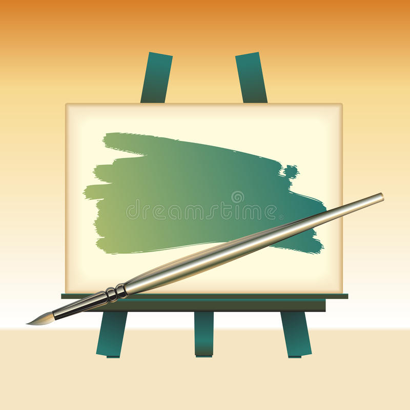 Download Canvas Board And Color Brush Stock Photography - Image: 12015232