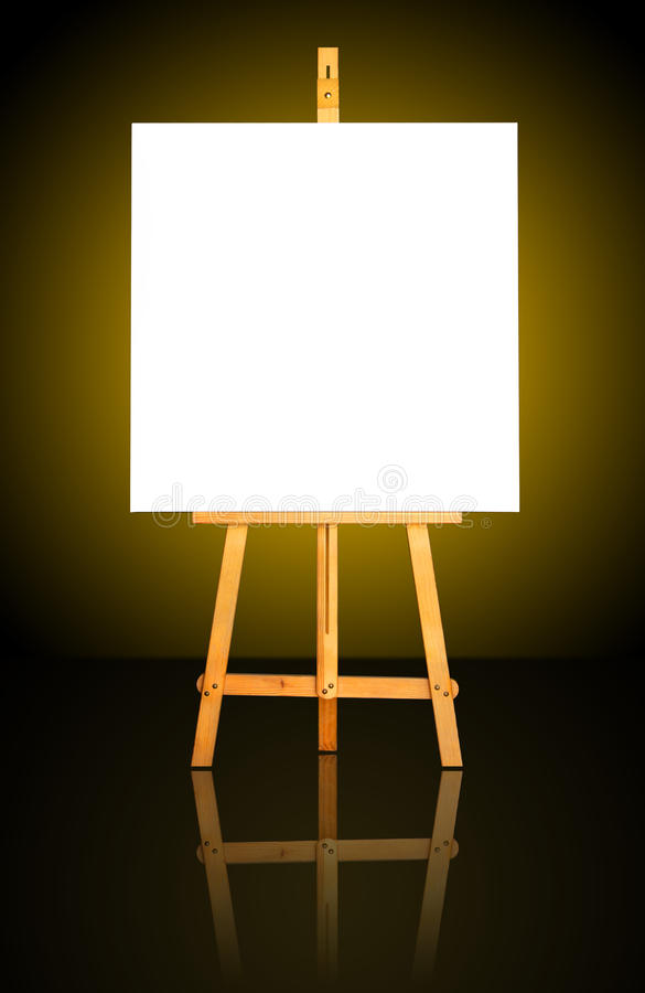 Download Canvas on Easel stock photo. Image of artist, gold, painting - 11359104