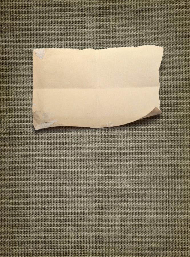 Canvas met stuk van document stock foto's