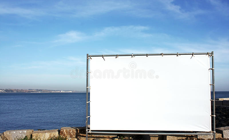 Canvas panel for outdoor advertising stock images