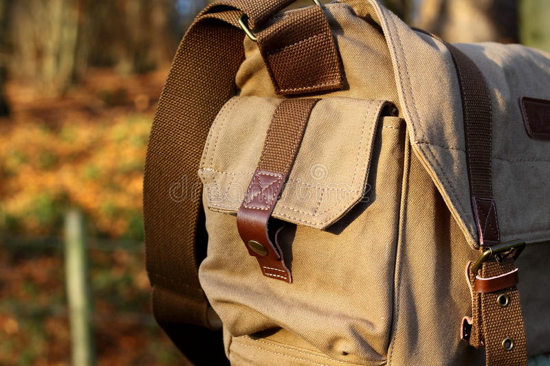 Download Canvas shoulder bag B stock image. Image of fabric, tree - 22316179