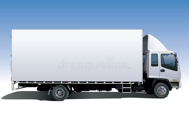 Canvas Sided Truck vector illustration