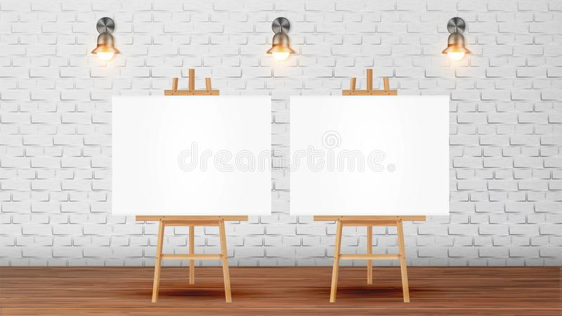 Canvas On Tripod For Collective Drawing Vector royalty free illustration