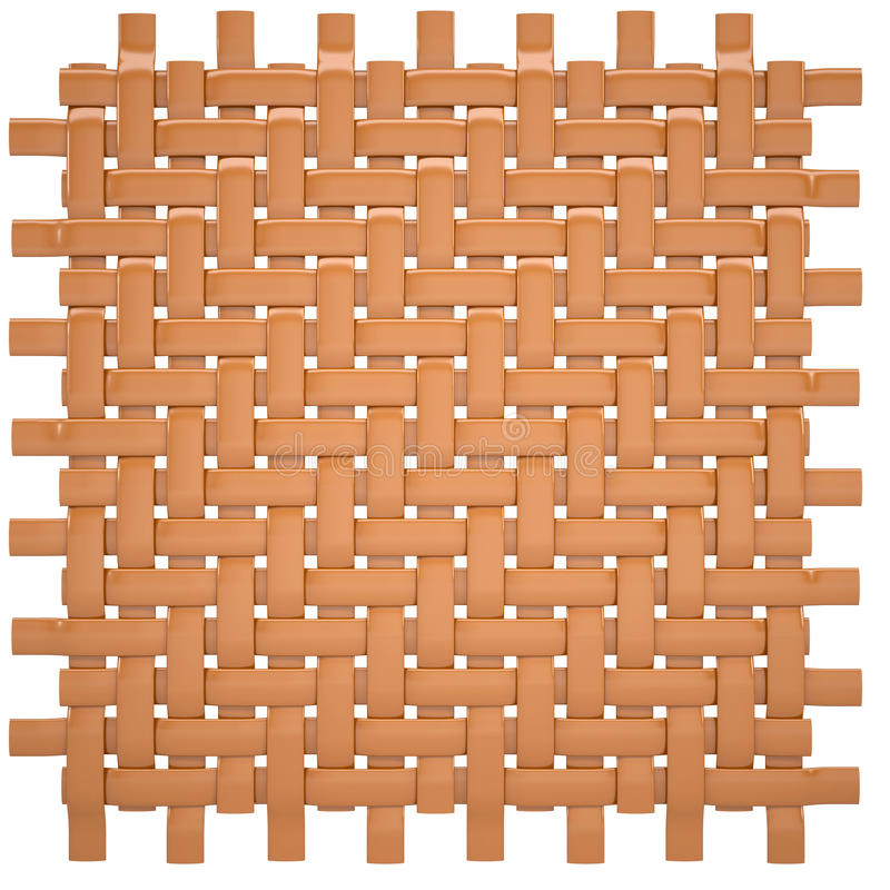 Canvas woven from wood royalty free illustration
