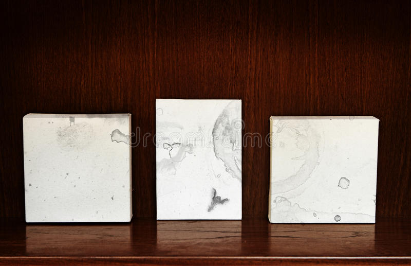 Canvases on a shelf royalty free illustration