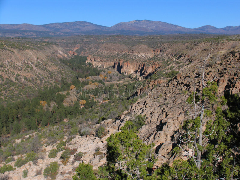 Download Canyon stock image. Image of village, valley, frijoles, western - 57969