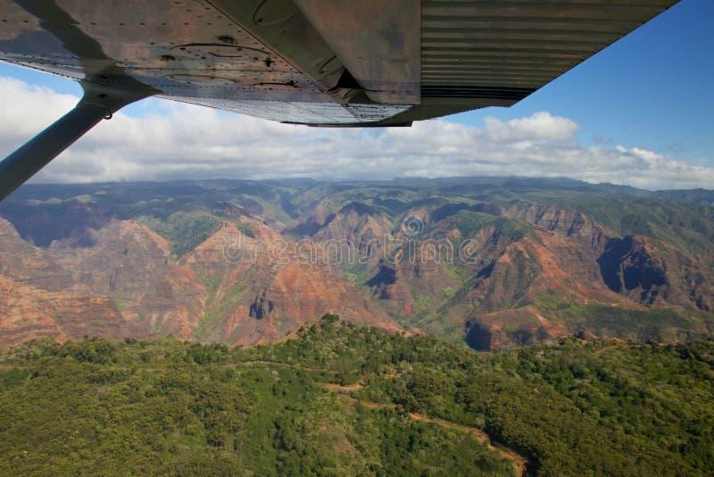 Canyon aereo di Waimea immagine stock libera da diritti