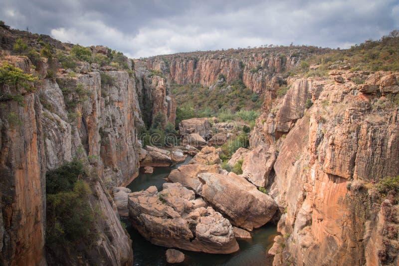 Canyon Afrique du Sud de rivière de Blyde image libre de droits