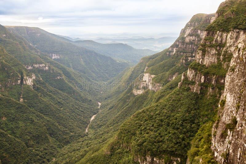 Canyon Aparados da Serra Brasile di Fortaleza immagine stock libera da diritti