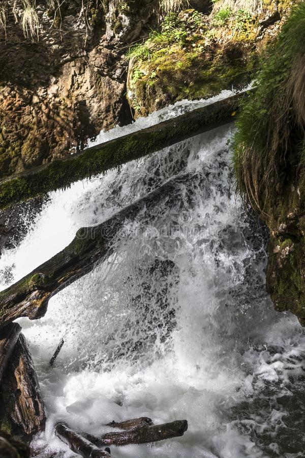 Canyon célèbre de Galbena en Transylvanie photos libres de droits