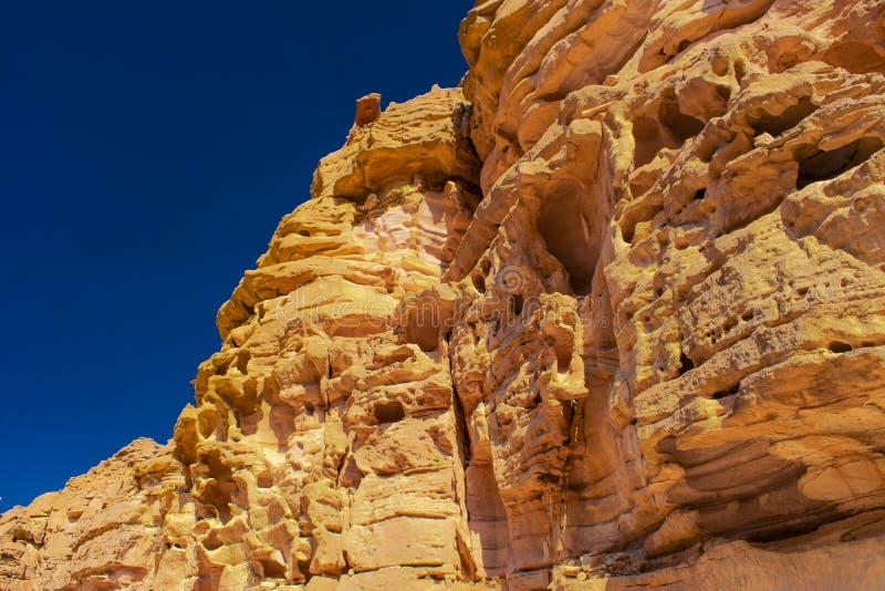 Canyon colorato nell'Egitto immagini stock libere da diritti
