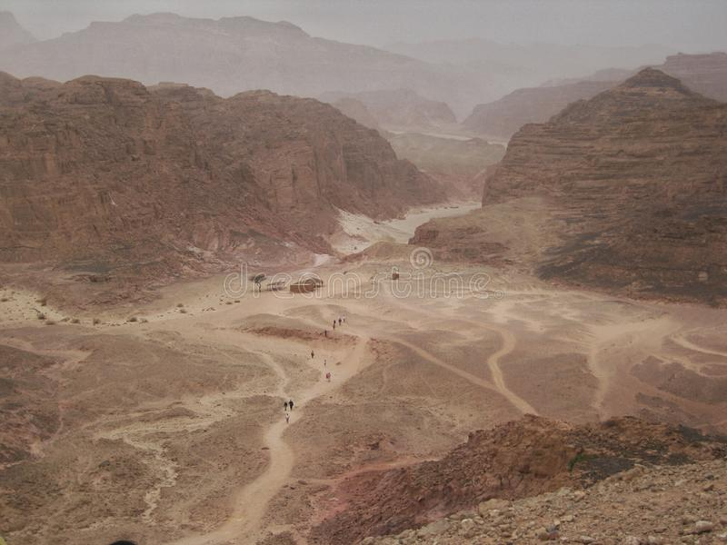 Canyon colorato nell'Egitto fotografia stock libera da diritti