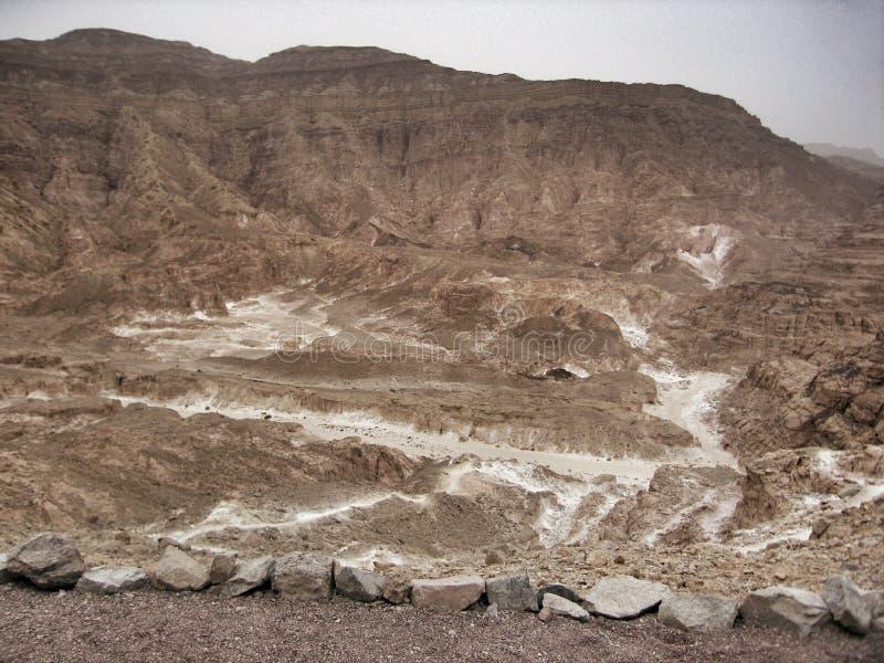 Canyon colorato nell'Egitto fotografia stock