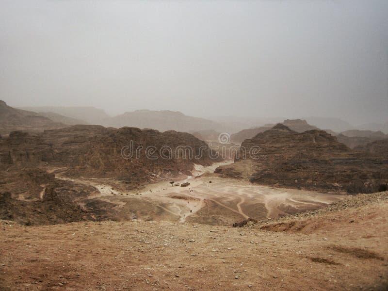 Canyon colorato nell'Egitto fotografie stock