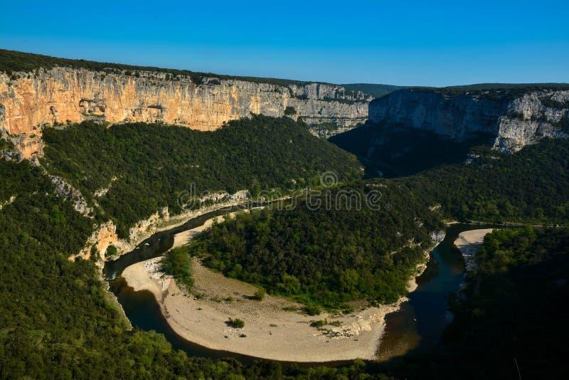 Canyon d'Ardeche en France image stock