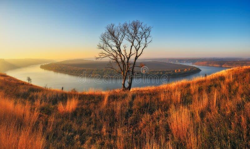 Canyon d'automne matin pittoresque d'automne images libres de droits