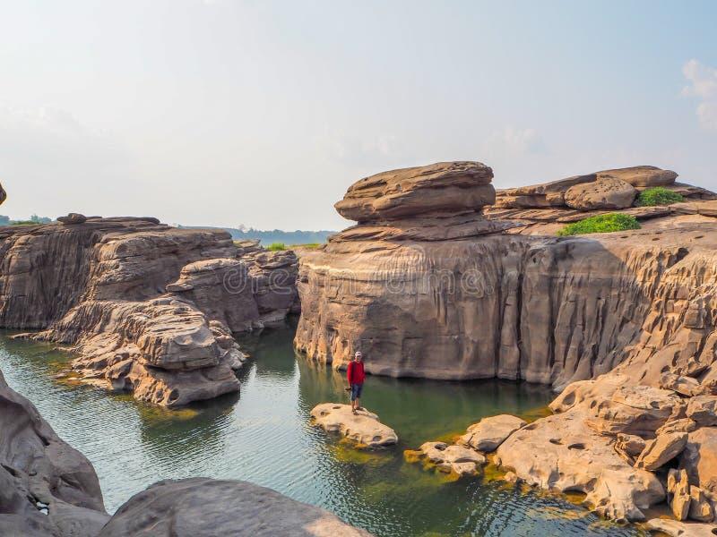 Canyon dans le mekhongriver, Tha?lande photographie stock libre de droits