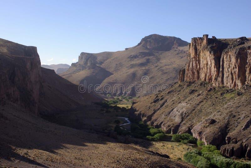 Canyon dans le Patagonia image libre de droits