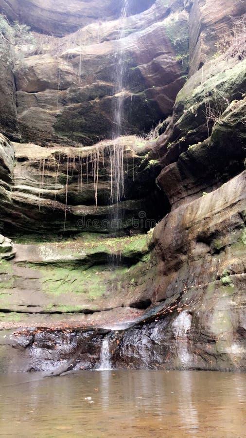 Canyon de cascade images libres de droits
