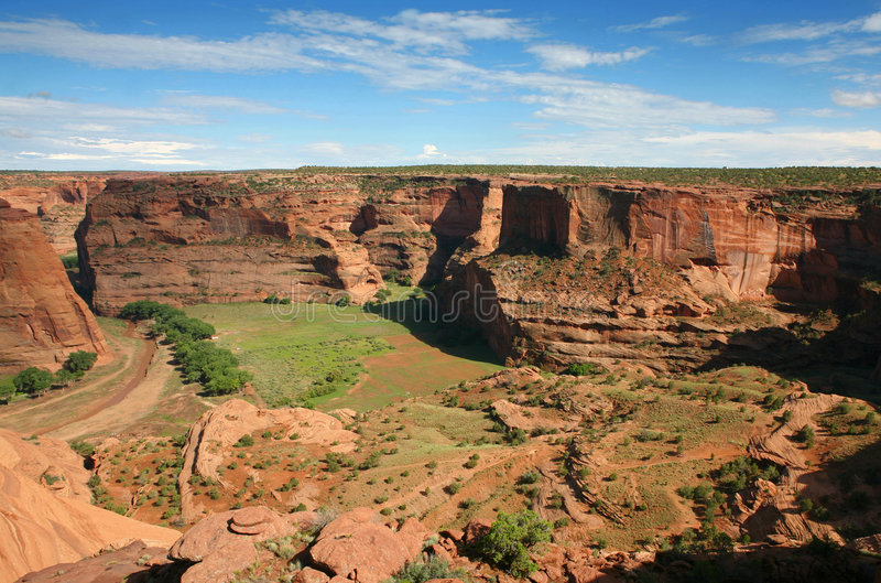 Canyon de chelly. Whitehouse overlook royalty free stock image