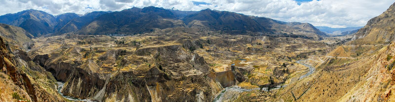 Canyon de Colca, Peru Panorama images stock