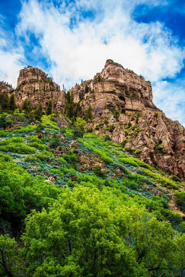 Canyon de Glenwood dans le Colorado photos stock