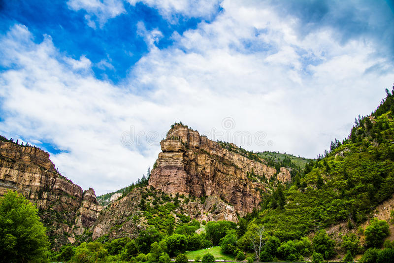 Canyon de Glenwood dans le Colorado images stock