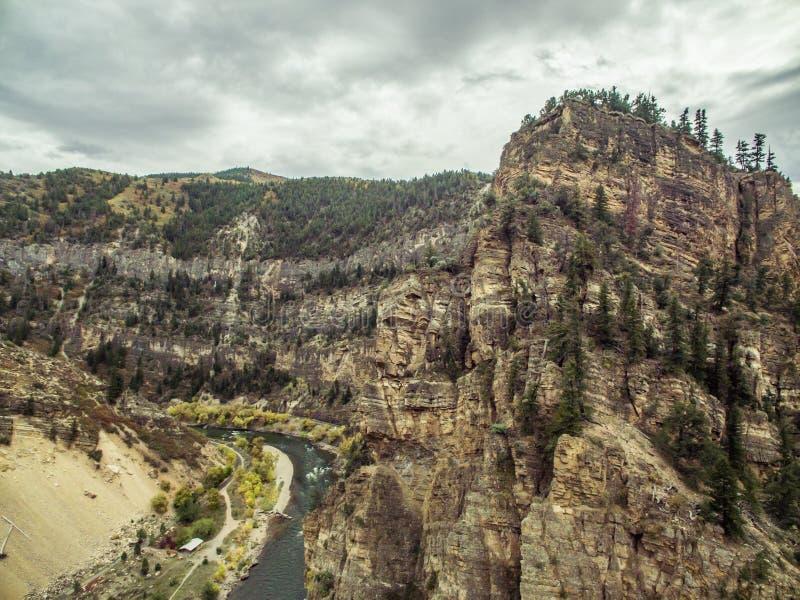 Canyon de Glenwood - le Colorado image libre de droits