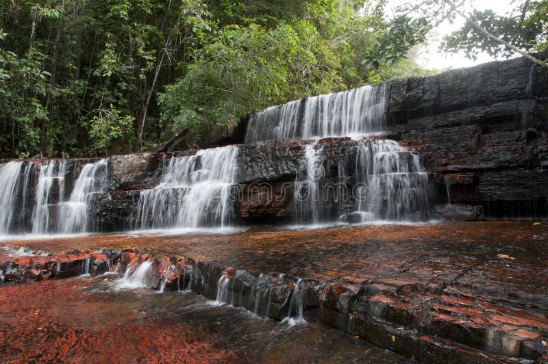 Canyon de jaspe. Le Venezuela images stock