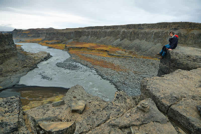 Canyon de Jokulsargljufur photographie stock libre de droits