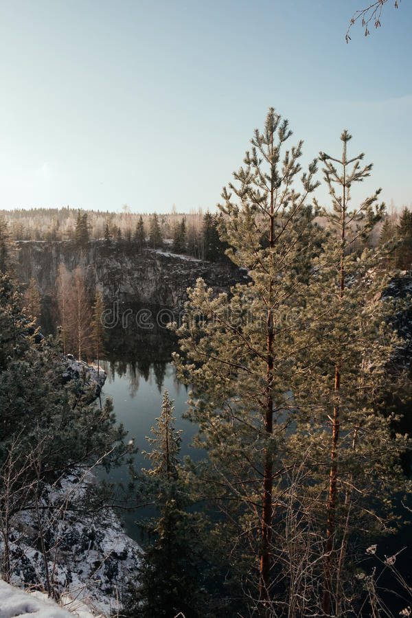Canyon de marbre en hiver photographie stock libre de droits