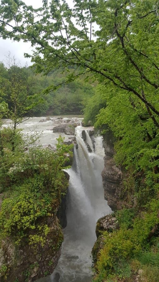Canyon de Martvili images libres de droits