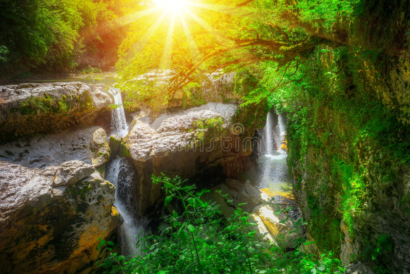 Canyon de Martvili en Géorgie photographie stock