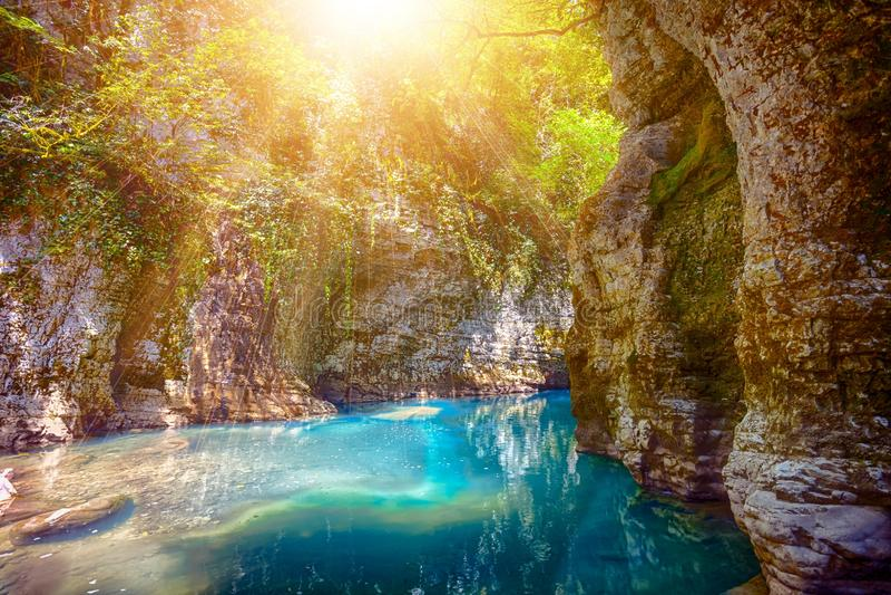 Canyon de Martvili en Géorgie image stock
