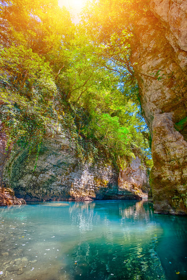 Canyon de Martvili en Géorgie images libres de droits