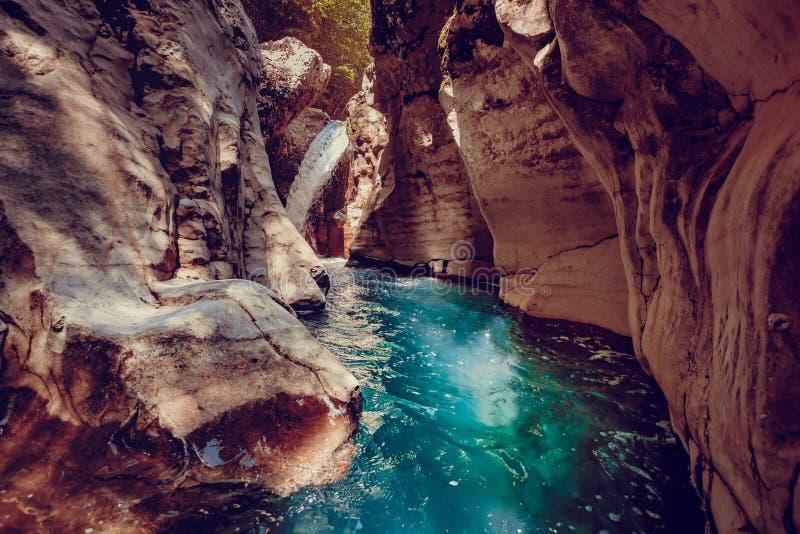 Canyon de Martvili en Géorgie Horizontal de nature images libres de droits